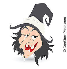 cunning witch vector - Drawing Art of Cunning Witch...