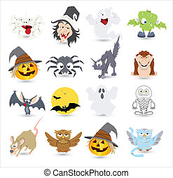 Halloween Vector Characters Icons