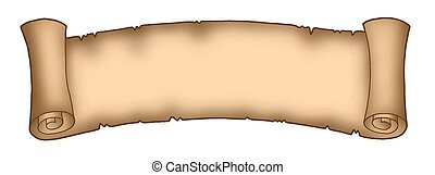 Parchment long 1 - Color illustration of long parchment