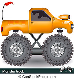 monster truck - Illustration of a vector monster truck image