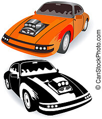 vintage sport car - Illustration of vintage sport car...