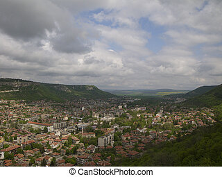Travel locations in Bulgaria, view to the town Provadia from...