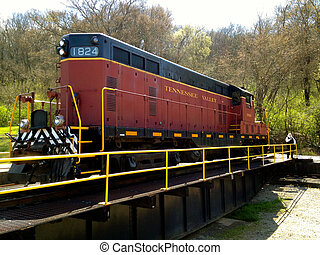 Train - Tennessee Valley Railroad in Chattanooga, Tennessee...