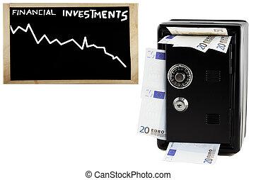 gota, financeiro, investimentos