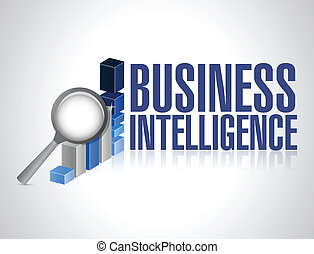 business intelligence concept illustration design over a...