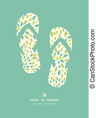 Leaf texture flip flops decor pattern background - Vector...