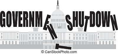 Washington DC Capitol Government Shutdown - Washington DC US...
