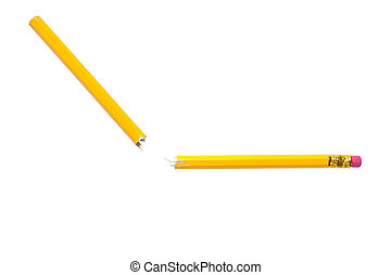 Broken yellow pencil