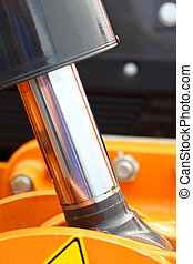 hydraulic system of a digger piston industrial detail -...