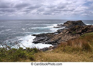 Kiama, Australia - Coast in Australia - rock cape in Kiama,...