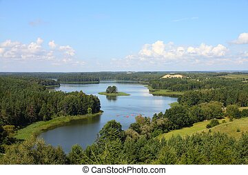 Mazury in Poland - Masuria Mazury - famous lake district in...