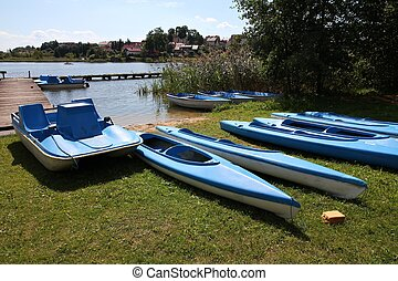 Water recreation equipment - Masuria (Mazury) - famous lake...