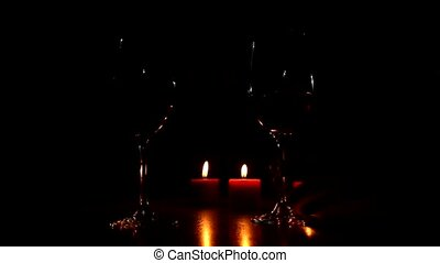 wine and candles
