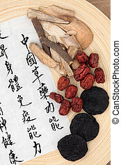 Chinese Herbs - Chinese herbal medicine of rehmannia, peony...