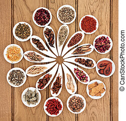 Chinese Medicine Sampler - Large chinese herbal medicine...