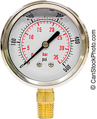 Pressure Gauge with Needle - Hydraulic Pressure Gauge from 0...