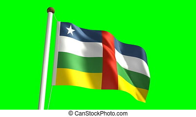 Central Africa flag (seamless & green screen)