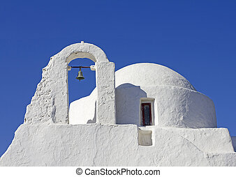 mykonos church - greek church on the island of mykonos...