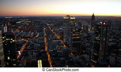 Timelapse Maintower Frankfurt - Looking at busy Frankfurt at...
