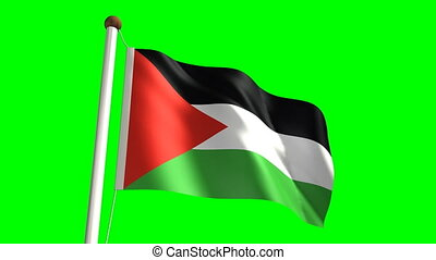 Palestine flag (seamless & green screen)