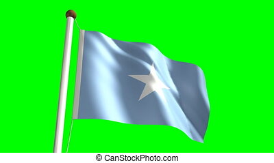 Somalia flag seamless green screen