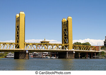 Sacramento Tower Bridge - Tower Bridge is a vertical lift...