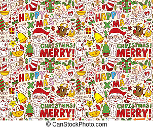 seamless Christmas pattern background