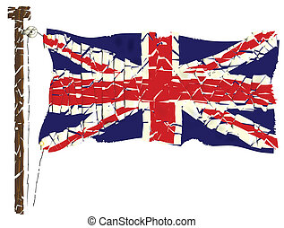 Grunge Union Jack Flag - The British Union Jack Flag Grunge...