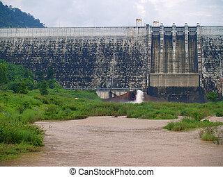 Khun Dan Prakan Chon Dam - Front view of Khun Dan Prakan...