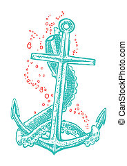 Anchor tattoo - anchor tattoo vector
