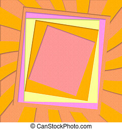 Abstract paper craft background - Illustration of abstract...