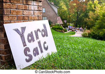 Yard sale - Closeup image of a yard sale sign