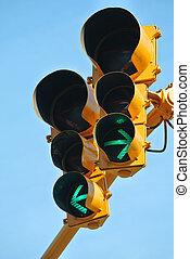 ir, ambos, Maneras, tráfico, luz