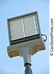 LED outdoor illumination system turned off