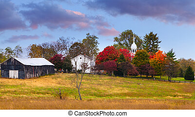 Fall scene - Beautiful fall scene in rural Kentucky