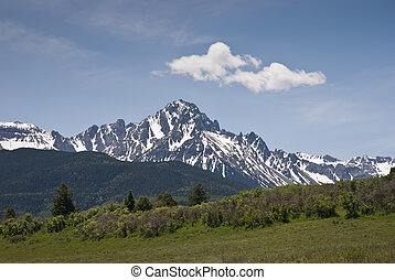Sneffels - San Juan Mountains in western Colorado on a sunny...