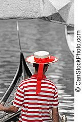 hat and striped Jersey of the gondolier - detail of the hat...