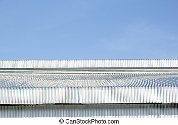 Roof made from metal sheet