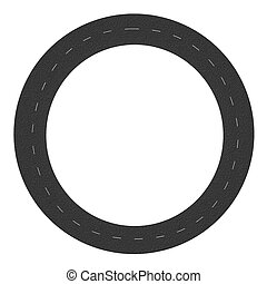 circular road isolated on white background