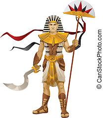 Warrior - I present to you a vector illustration - Egyptian...