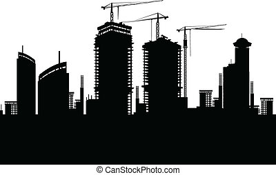 Construction silhouette - I present to you a vector...
