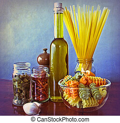 Mediterranean flavours - Italian spicy and healthy food...