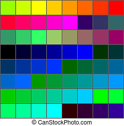 colors - Colour palette with a range of colors