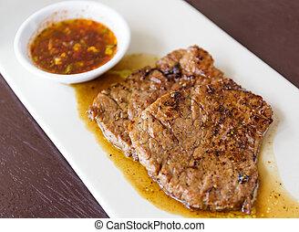 Grilled steak