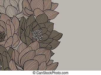 Floral background illustration on dark background