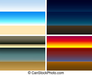 Seaside Color Gradient - Four different seaside color...
