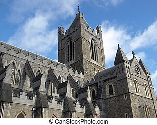 christ church - Christ Church in Dublin, gothic architecture...