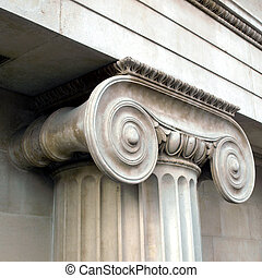 Capital - Detail of a Greek Ionic column capital