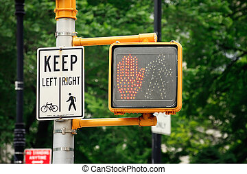 Dont walk traffic light - Dont walk pedestrian traffic light...