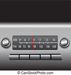 AM FM Car Dashboard Radio Drive Time